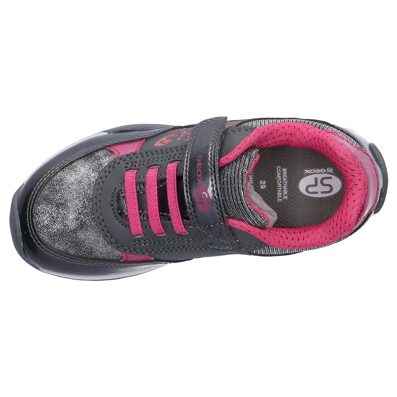 Geox Jocker Kinder Sneakers Turnschuhe J94g2a-0hipv//c9325 Dunkelgrau Pink Neu