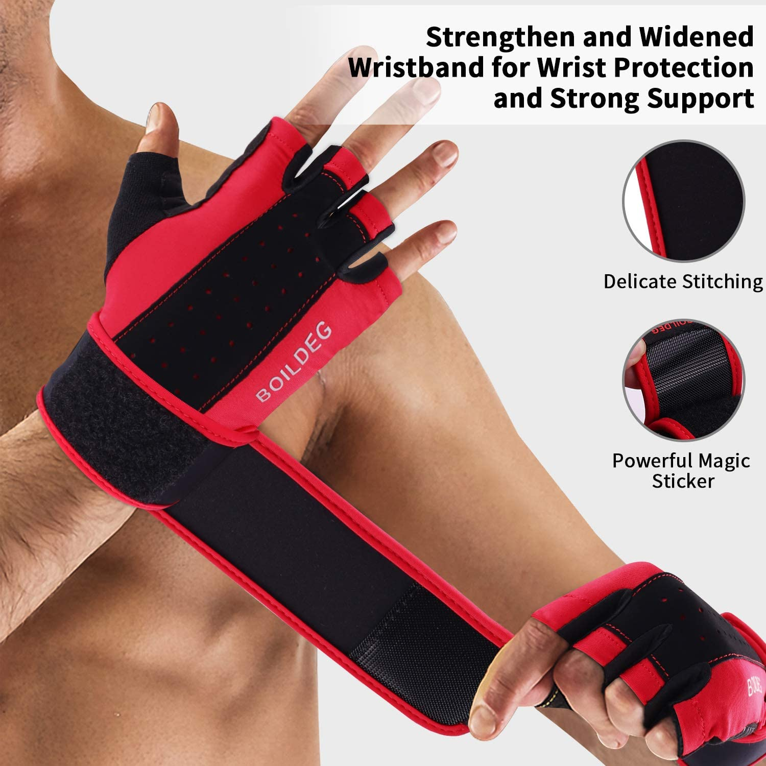 boildeg Workout Gloves Men and Women,Weight Lifting Gloves,Gym Gloves with Wrist Wraps Support Full Palm Protection /& Extra Grip for Fitness//Weightlifting//Exercise//Pull Ups//Cross Training