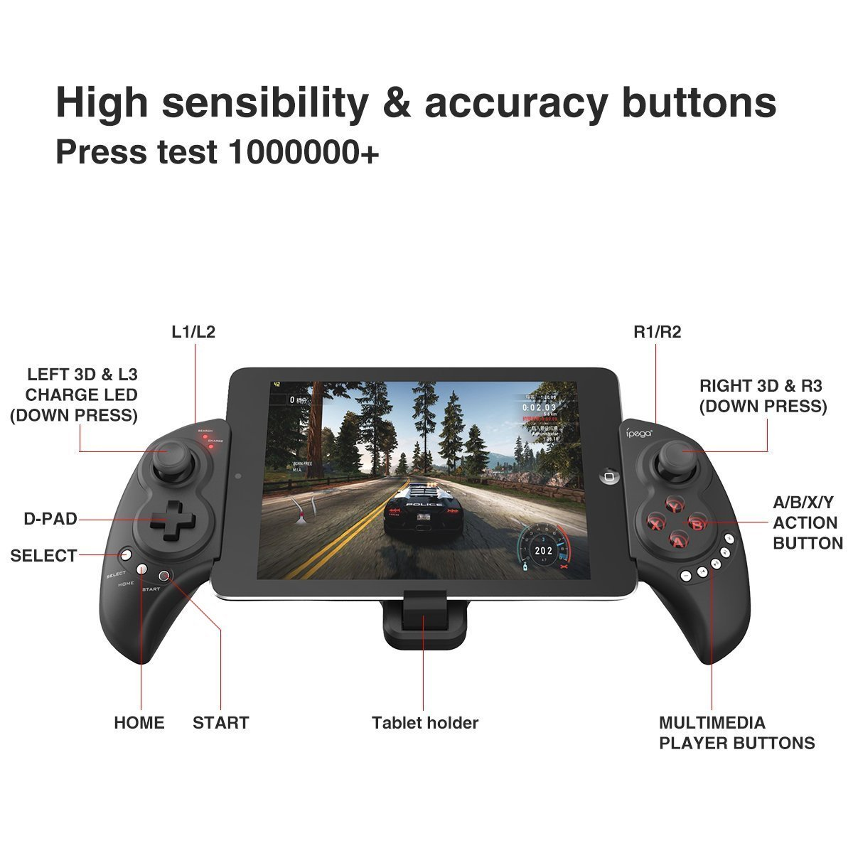 Ipega PG-9023 Wireless Bluetooth Game Controller Gamepad for iPhone
