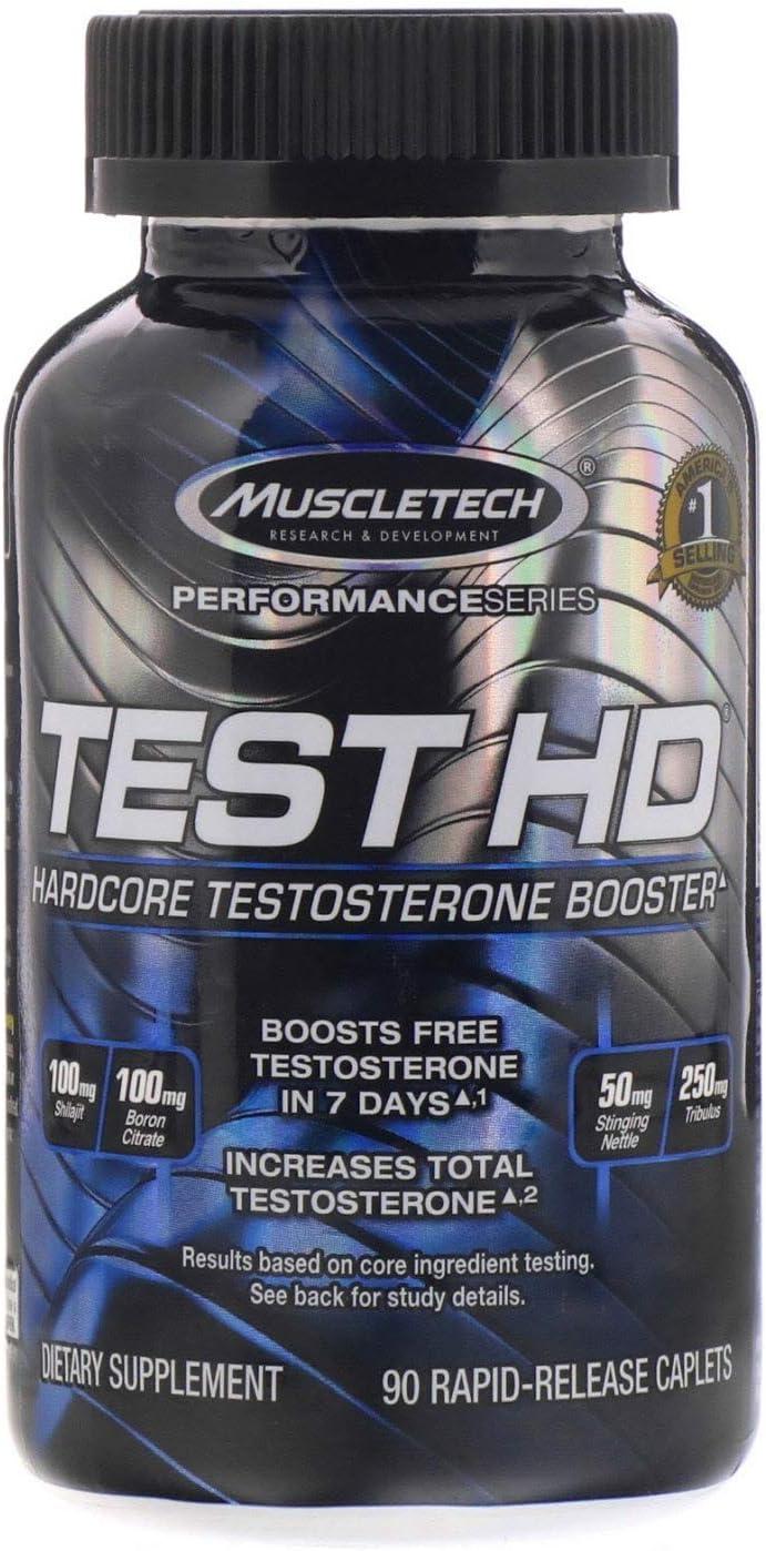 Muscletech Performance Series, Test HD, Hardcore Testosterone Booster, 90 Rapid-Release Caplets
