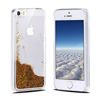 Funda iPhone SE, Carcasa iPhone 5S, RosyHeart Sparkle ...