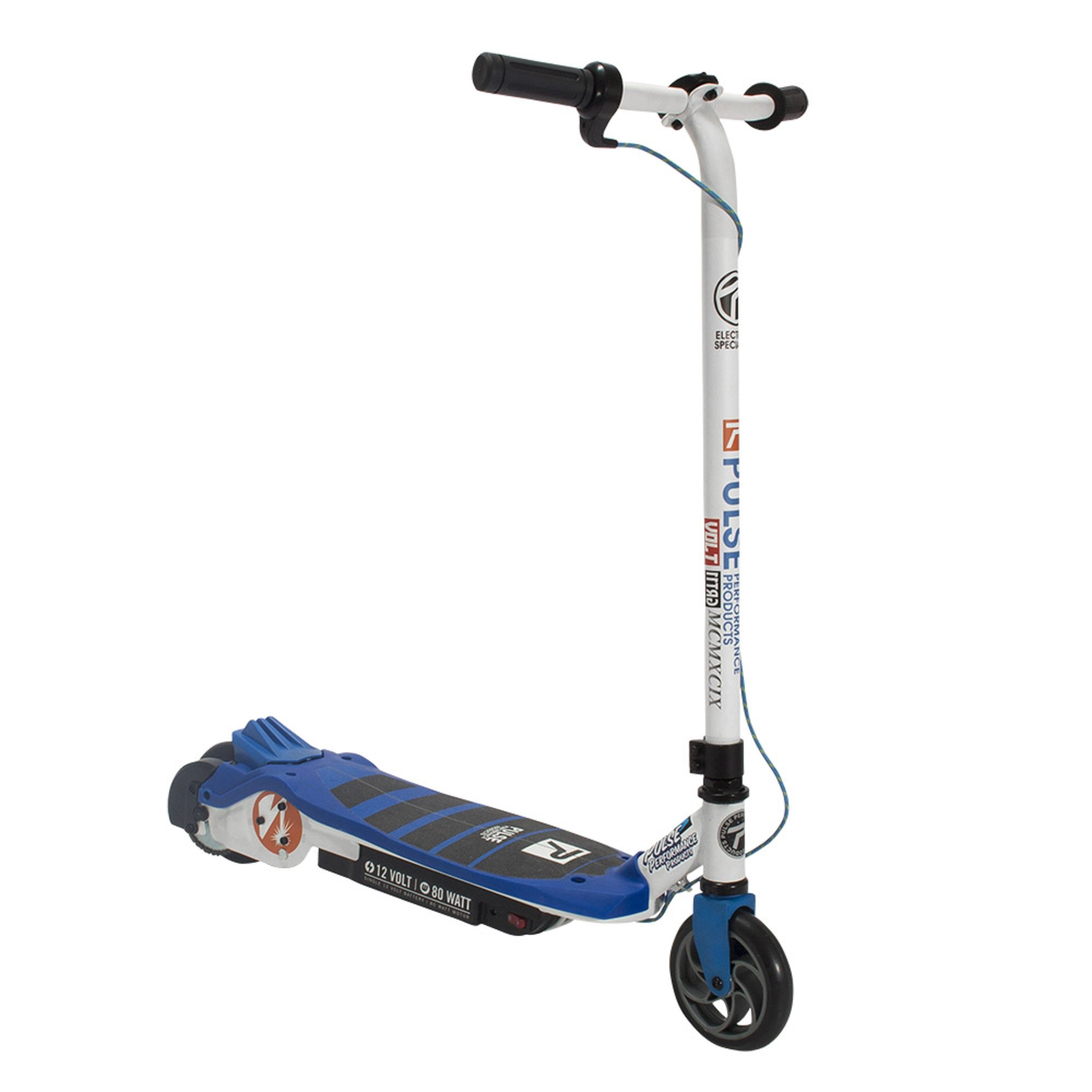 Pulse Performance Products GRT-11 Electric Scooter - 12 Volt Battery-Powered Scooter for Kids - Blue by Pulse Performance Products