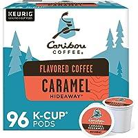 Caribou Coffee Caramel Hideaway, Single-Serve Keurig K-Cup Pods, Medium Roast Coffee, 96 Count