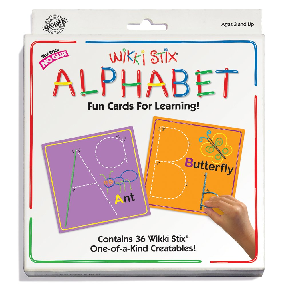 Wikki Stix Alphabet Fun Cards for Learning 606