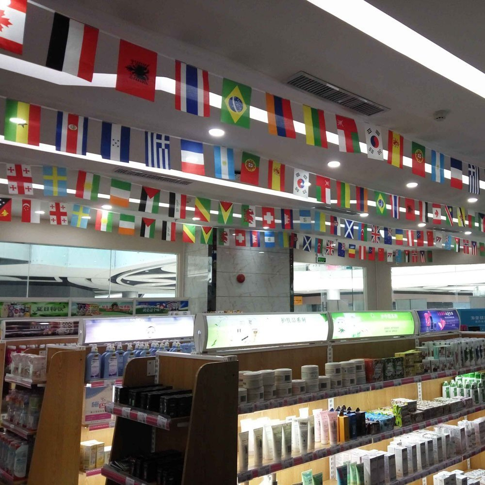 Anself 164ft/ 229ft International String Flag Hanging Flag Banner 200 Countries for Olympic Games Party Celebration by Anself (Image #2)