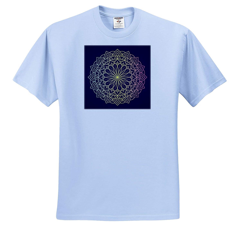 Colorful Mandala Symbol with Yellow Red and Purple T-Shirts 3dRose Sven Herkenrath Art