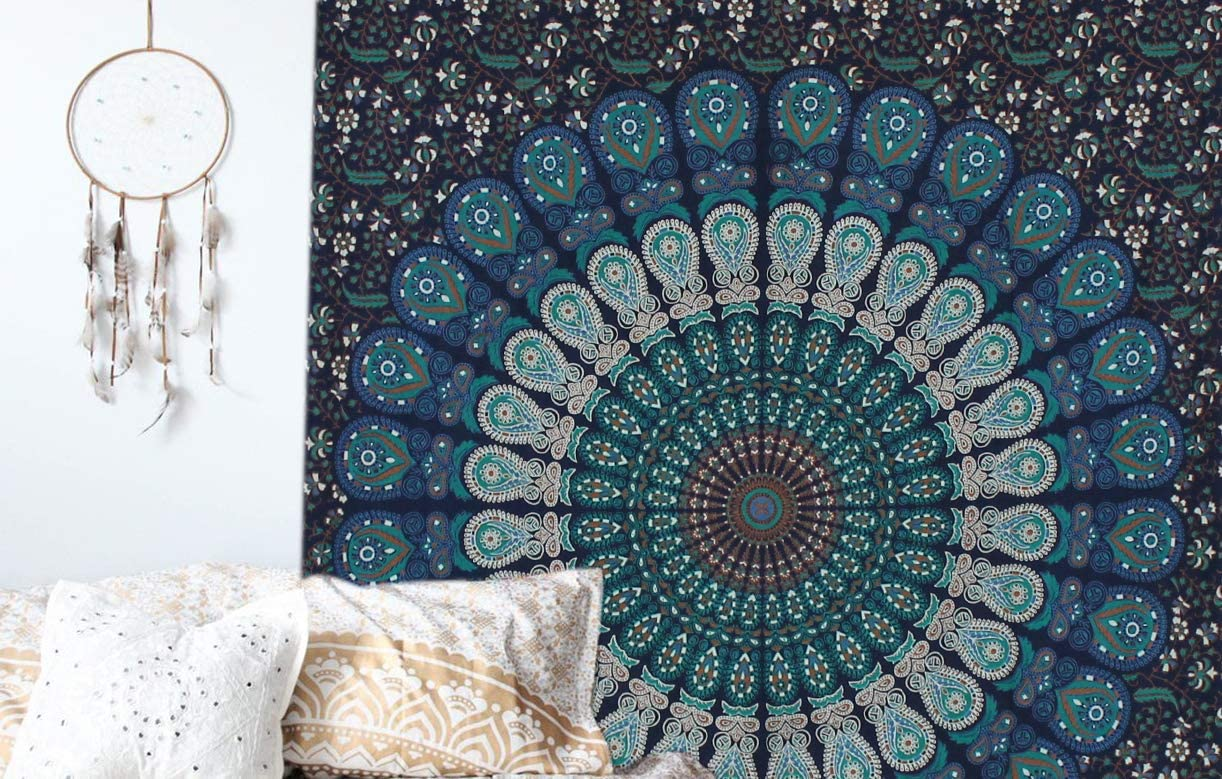 Mandala Tapestry Yoga Wall Hanging Bohemian Hippie Bedspread Throw Decor Ethnic