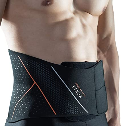 iLeeToo Waist Trimmer Belt,Sweat Belt Weight Loss Adjustable Slimming Belt with Back Support Belly Fat Burner and Lumbar Support for Pain Relief in Gym Workout