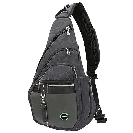 c427ac18ea1 JOCHUI Sling Backpack, Sling Bag Pack Crossbody Bags Shoulder Backpack  Laptops Travel Bag for Men Women Teens Dark Gray