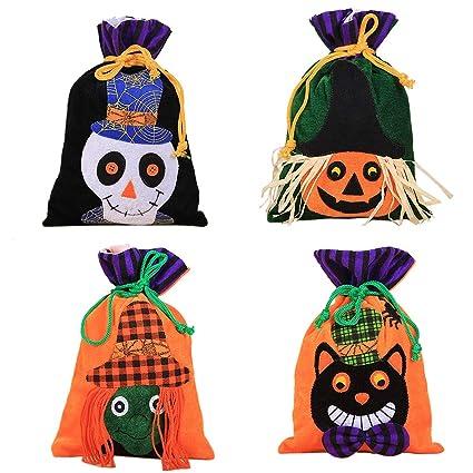 XONOR 4 Bolsas de Mano de Halloween Trick or Treat - Bolsas ...