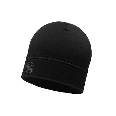 a914afad722 Amazon.com  Buff Single Layer Merino Wool Hat - SS18 - One - Black  Clothing