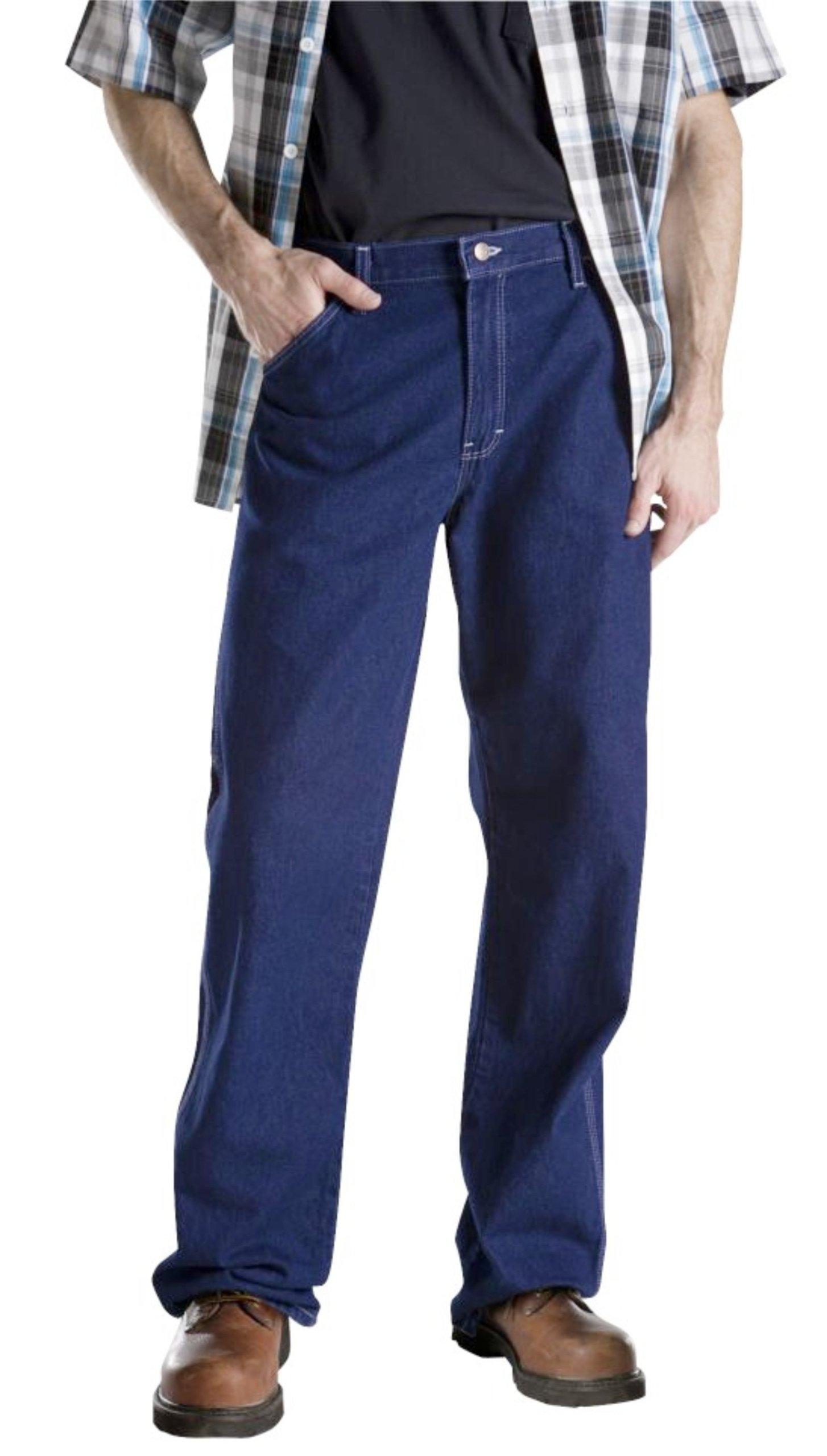 Dickies Men's Relaxed Fit Carpenter Jean, Indigo Rigid, 38x32