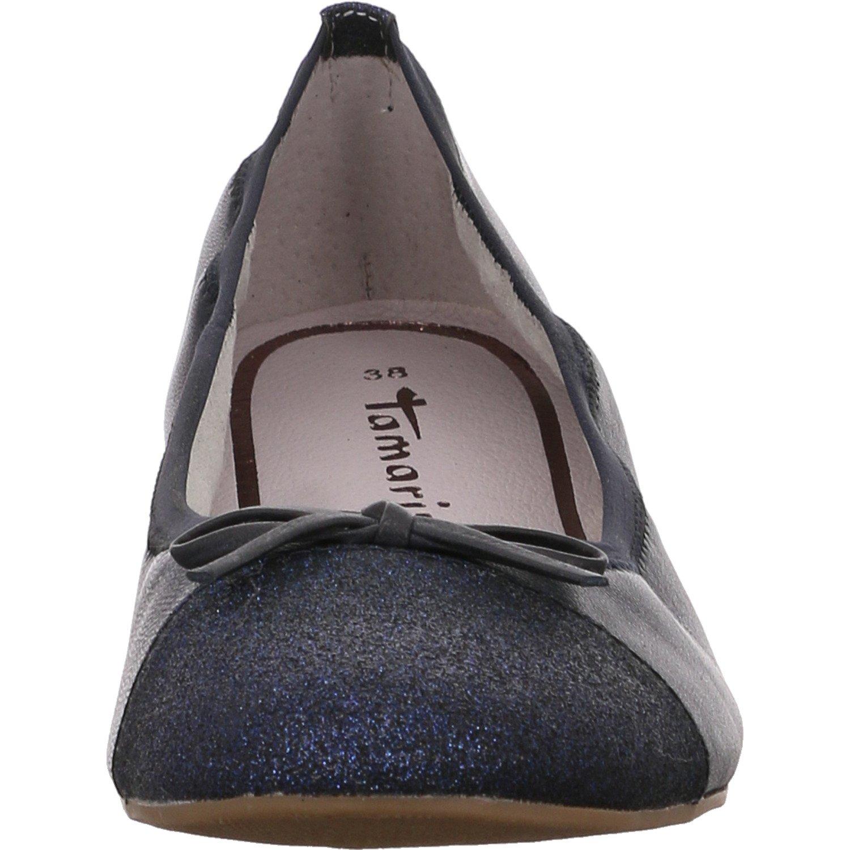 Tamaris Damen Ballerinas 1-1-22129-20/724 1-1-22129-20/724 Ballerinas blau 401595 44ccca