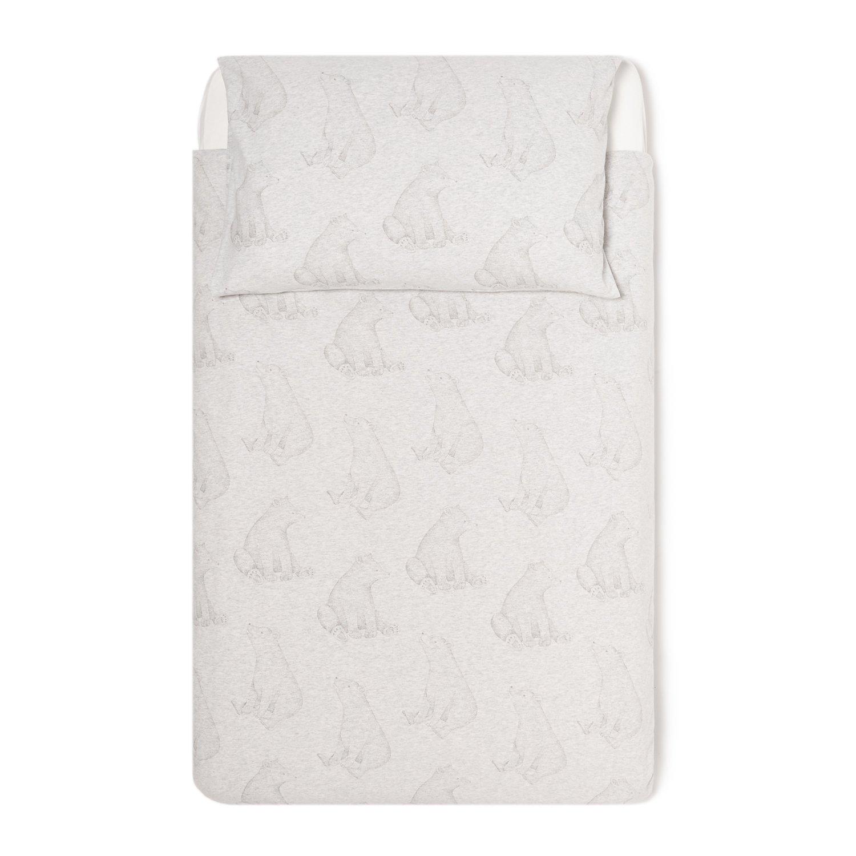 The Little Green Sheep Wild Cotton Organic Duvet and Pillow Case Set (120 x 150 cm) - Bear Green Sheep Group LTD BD008BA