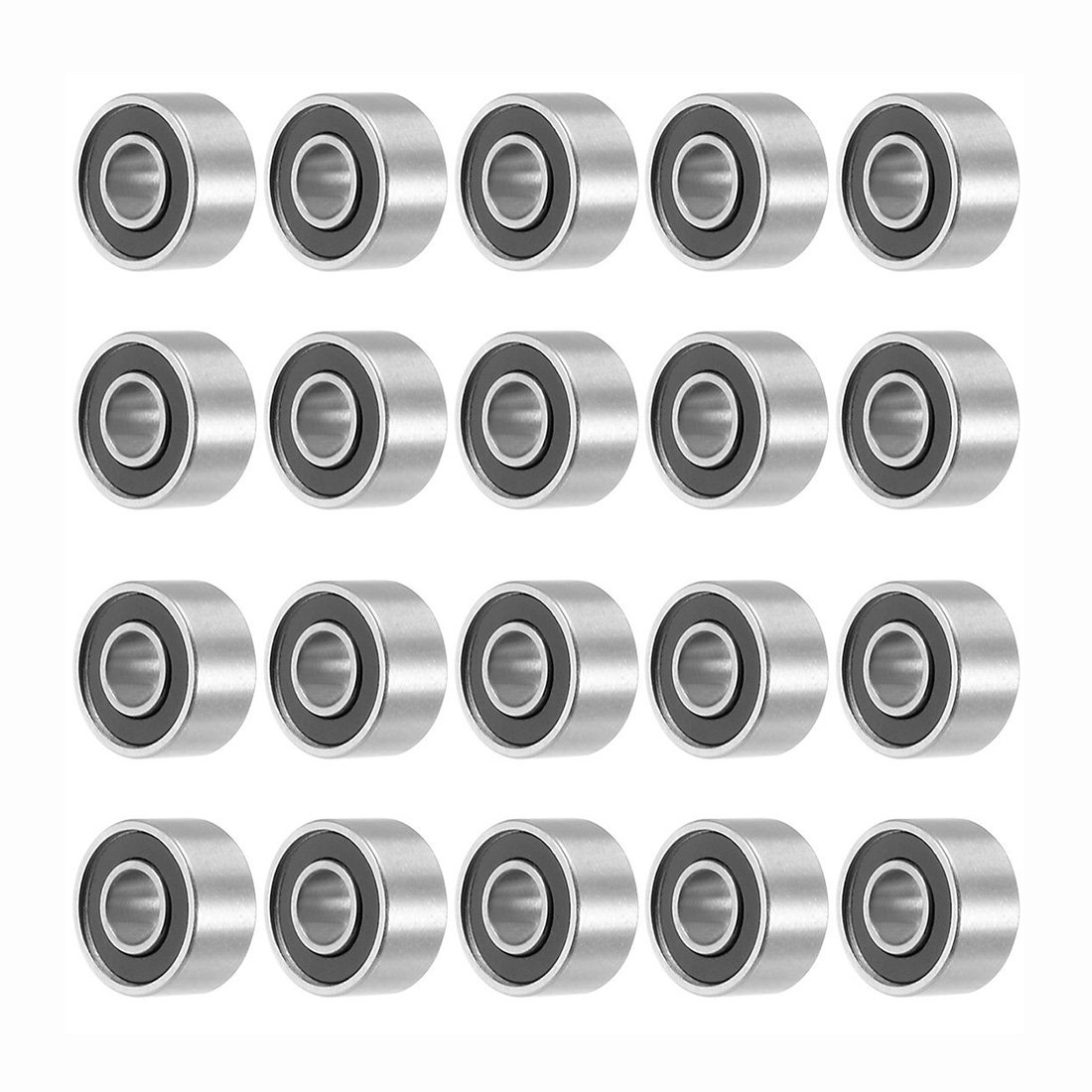 TOOGOO 693RS 3mmx8mmx4mm Double Sealed Miniature Deep Groove Ball Bearing 20pcs