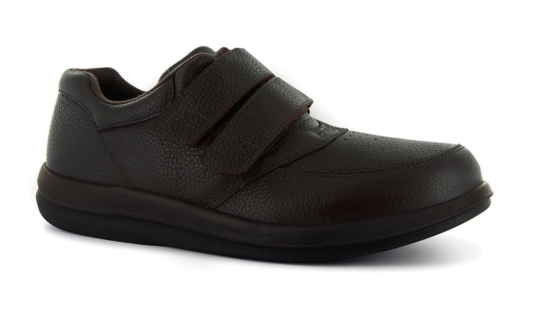 P W Minor Leisure Time Men's Therapeutic Extra Depth Shoe: Brown 9 X-Wide (2E-3E) Velcro