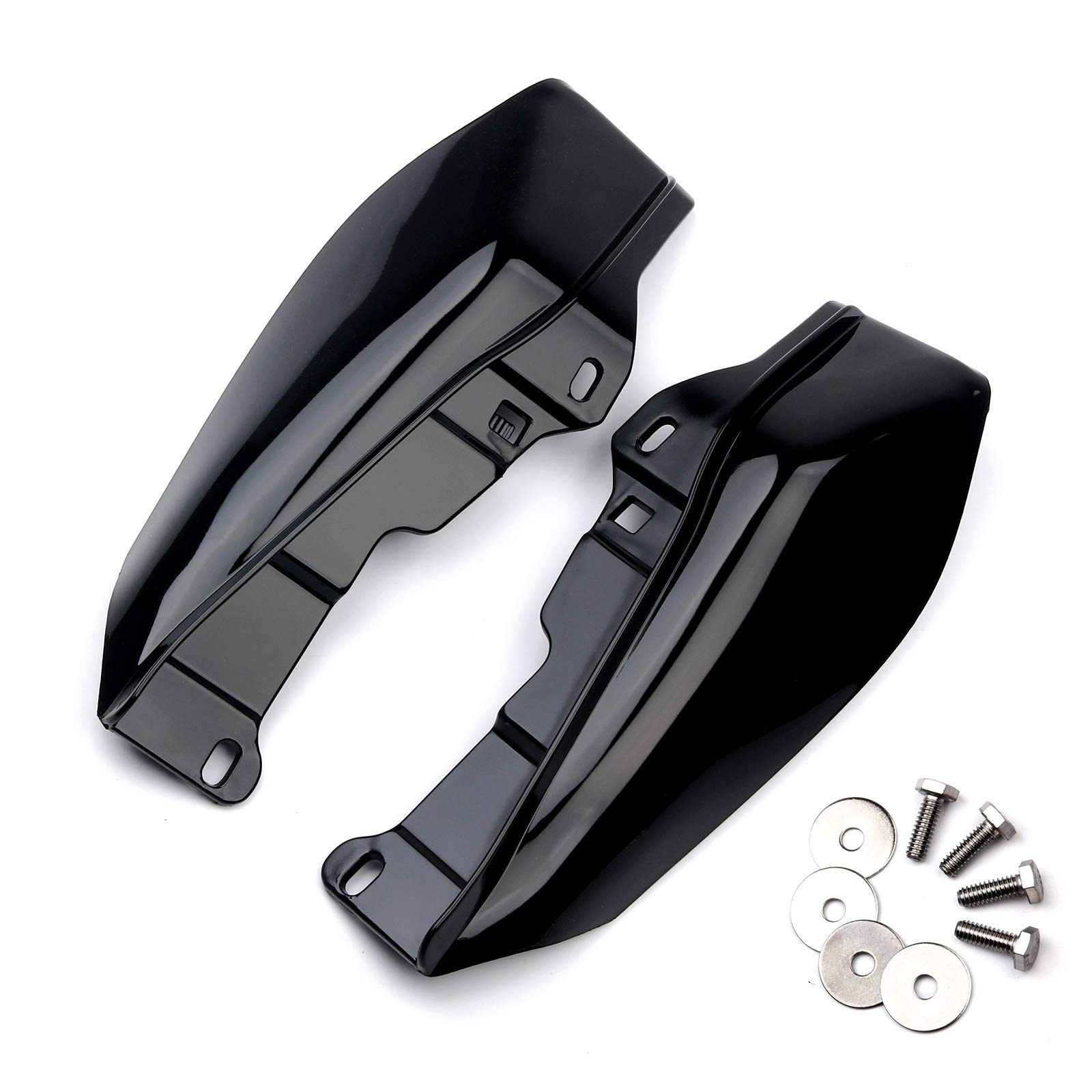 LEAGUE&CO 1 Pair Black Mid-Frame Air Deflector Trim For 2009-2016 Harley Street Glide Tri Electra Road King by LEAGUE&CO