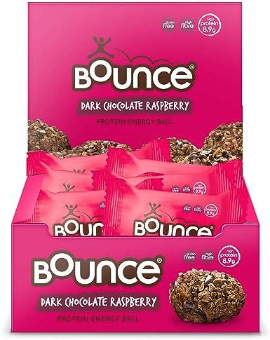 Bounce Protein Energy Balls (Dark Chocolate Raspberry, Pack of 12 ...