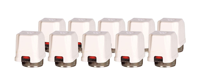 10 St/ück Watts Stellantrieb Set f/ür Fu/ßbodenheizung Heizkreisverteiler 230V 22CX 230NC2 1,8 W