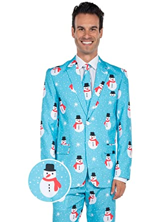 Christmas Suit.The Snowman Is An Island Holiday Christmas Suit Ugly Christmas Sweater Party Suit