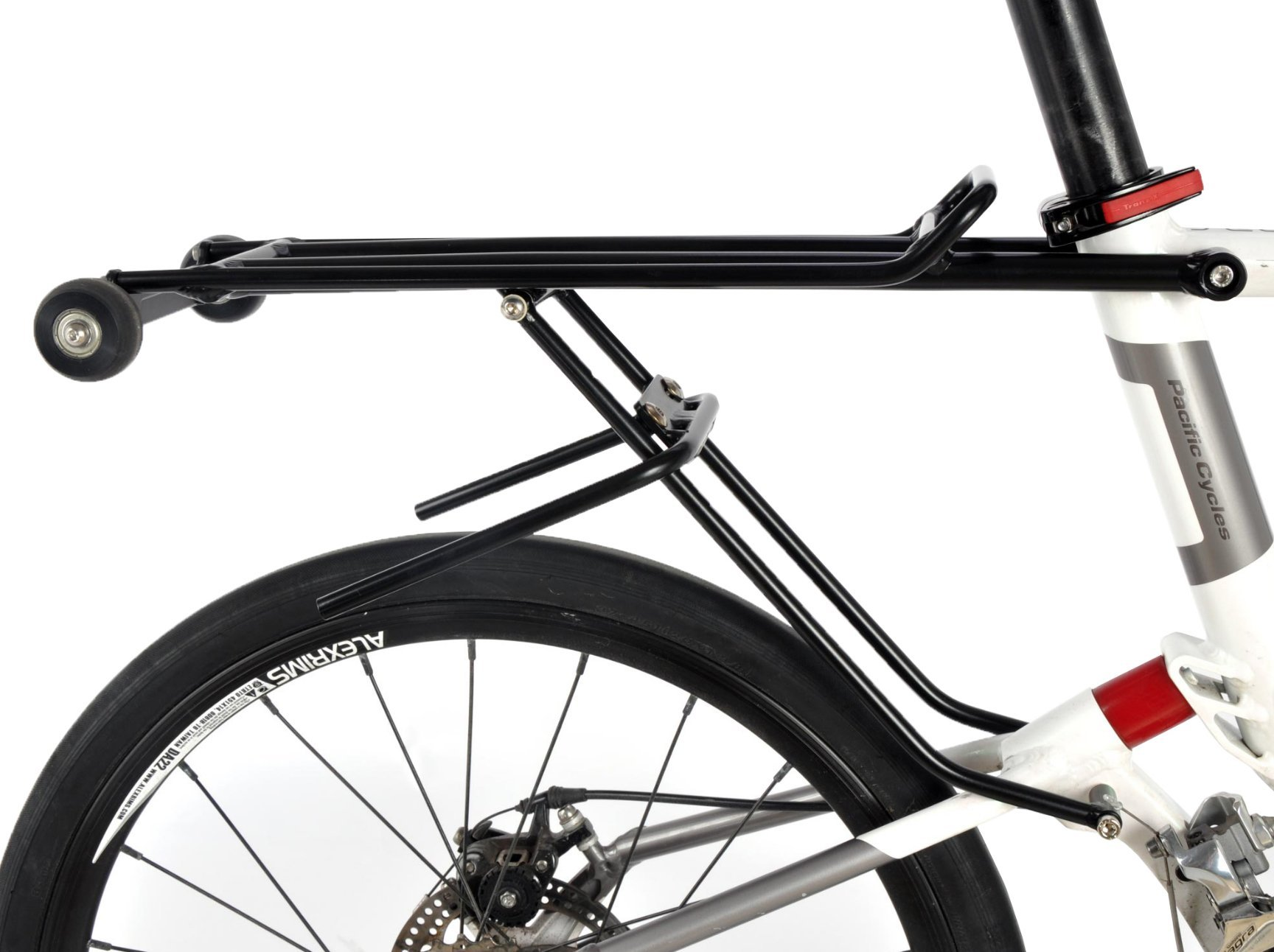 Rear Rack with wheels for Pacific Cycles IF REACH T20 R20 Mini Velo Folding Bikes by IF REACH (Image #1)