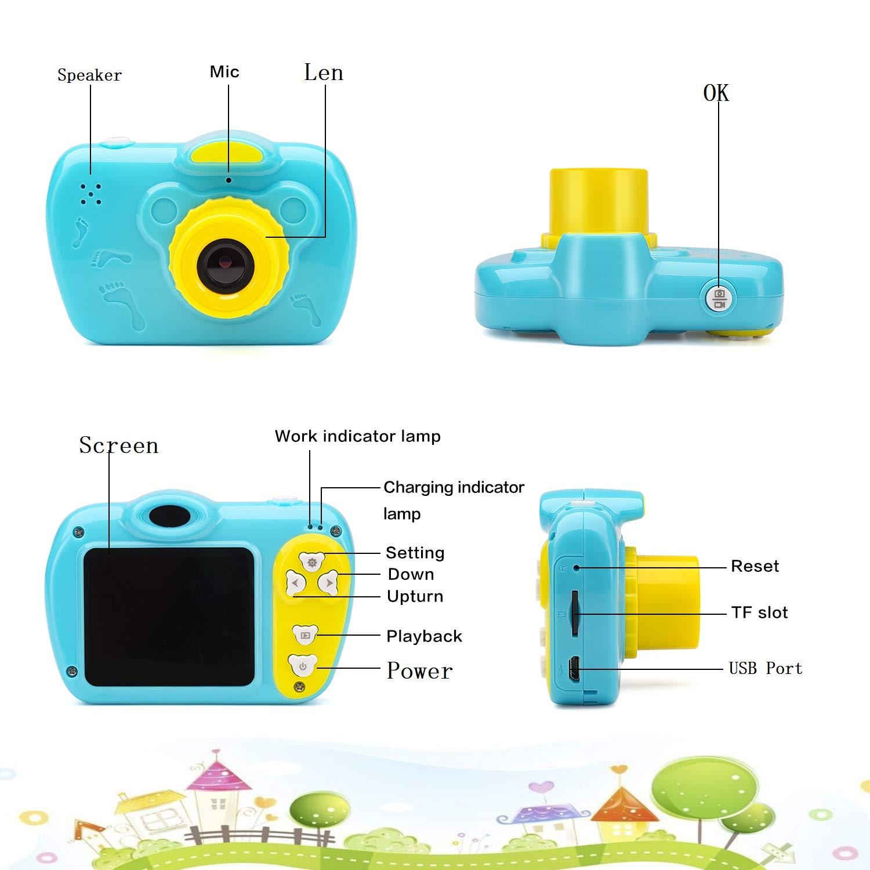 SIKVIO Mini 2.0 Inch Screen Kids Childrens Digital Camera,1080P HD Mini Digital Video Recorder Camcorder Camera with Loop Recording 16GB Cards for Boys Girls by SIKVIO (Image #7)