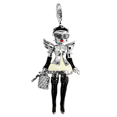 6b7e8505106 Thomas Sabo T0246 - 041-11 Doll Angel Wings Charm Pendant Silver  with Naughty Mrs.  Amazon.co.uk  Jewellery