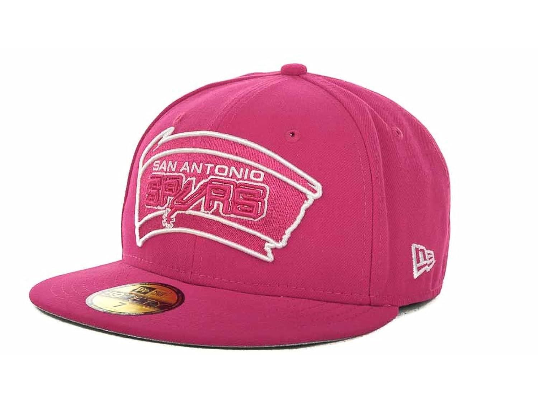 San Antonio Spurs NBA New Era 59 FiftyソリッドLeague Basic 100 %ウールフィットローズ野球キャップ帽子 8  B077DKQ3F7
