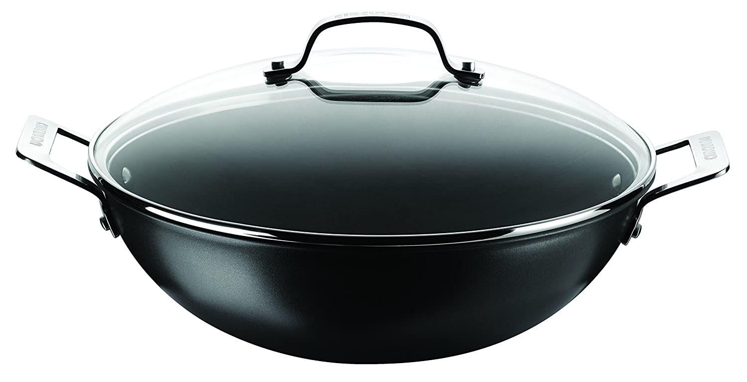 Circulon GenericHard Anodised 34 cm Wok with Glass Lid - Black Meyer Group Ltd. 80021