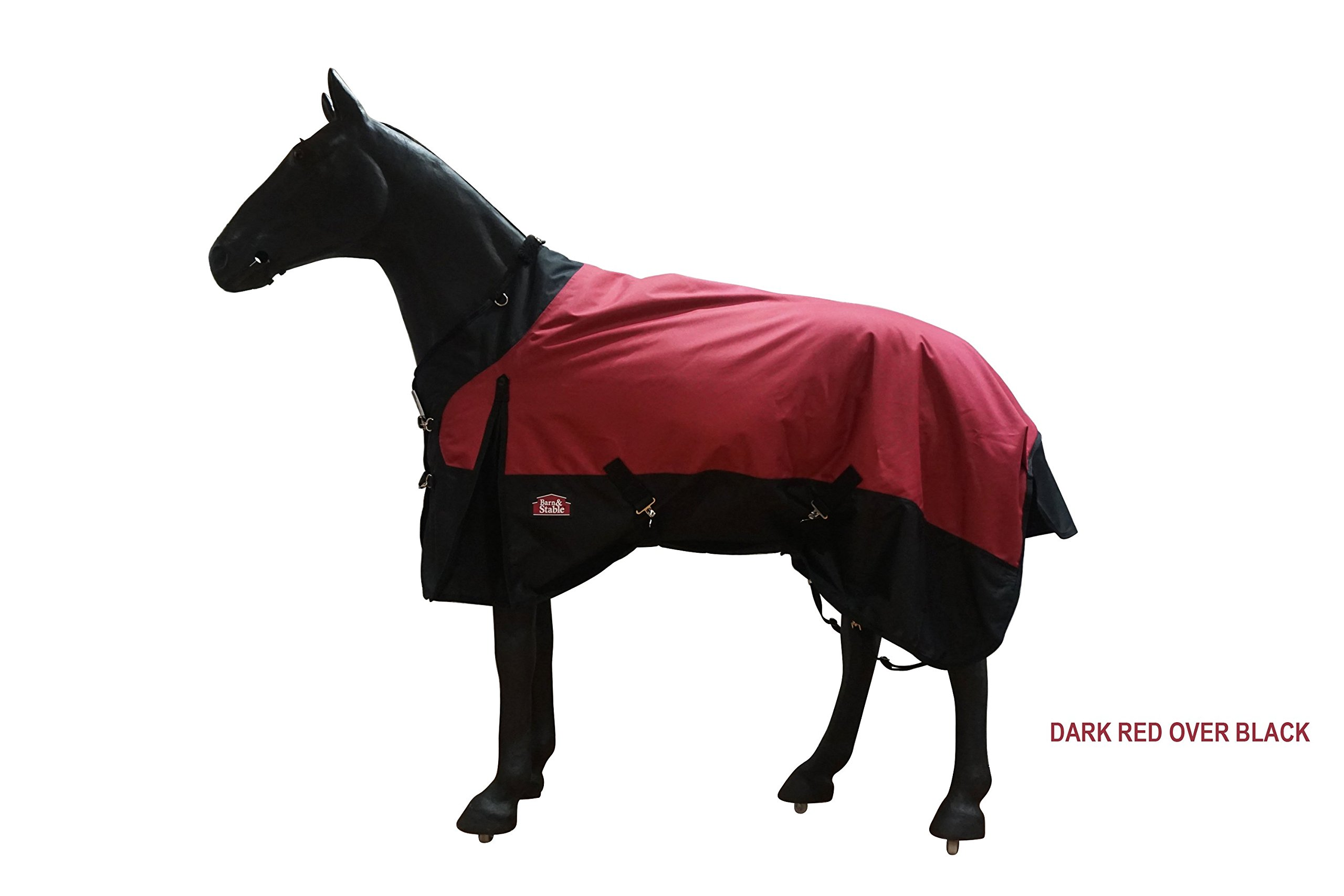 Barn & Stable Horse Blanket Turnout Blanket 1200D, 210D Lining and 200grm Fill