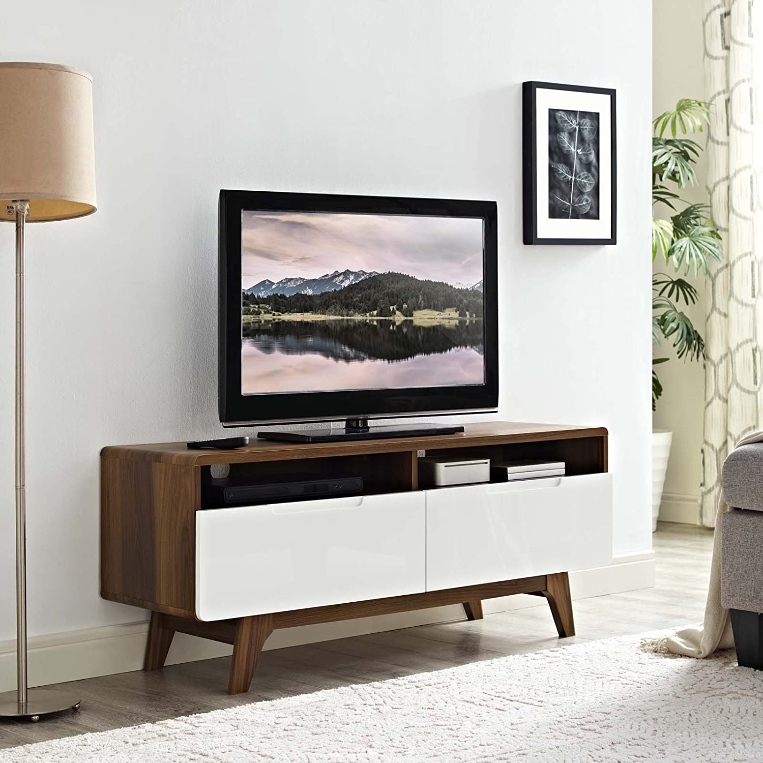 Amazon.com: Modway Origin Mid-Century Modern 47 Inch TV Stand in ...