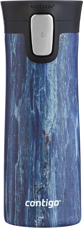 Contigo Stainless Steel Coffee Couture AUTOSEAL Vacuum-Insulated Travel Mug, 14 oz, Blue Slate