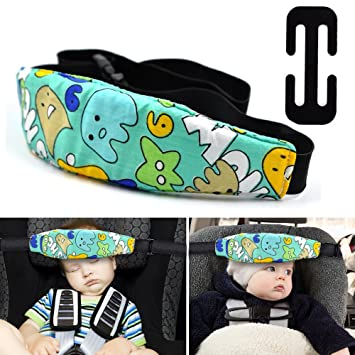 Cunina Car Seat Head Support Band Adjustable Safety Neck Relief Sleep Strap