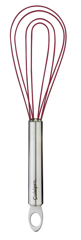 rot 20 cm Cuisipro 74696805 Silikon Flacher Schneebesen
