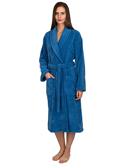 42c85de6c2 TowelSelections Women s Organic Cotton Bathrobe Terry Shawl Robe Made in  Turkey