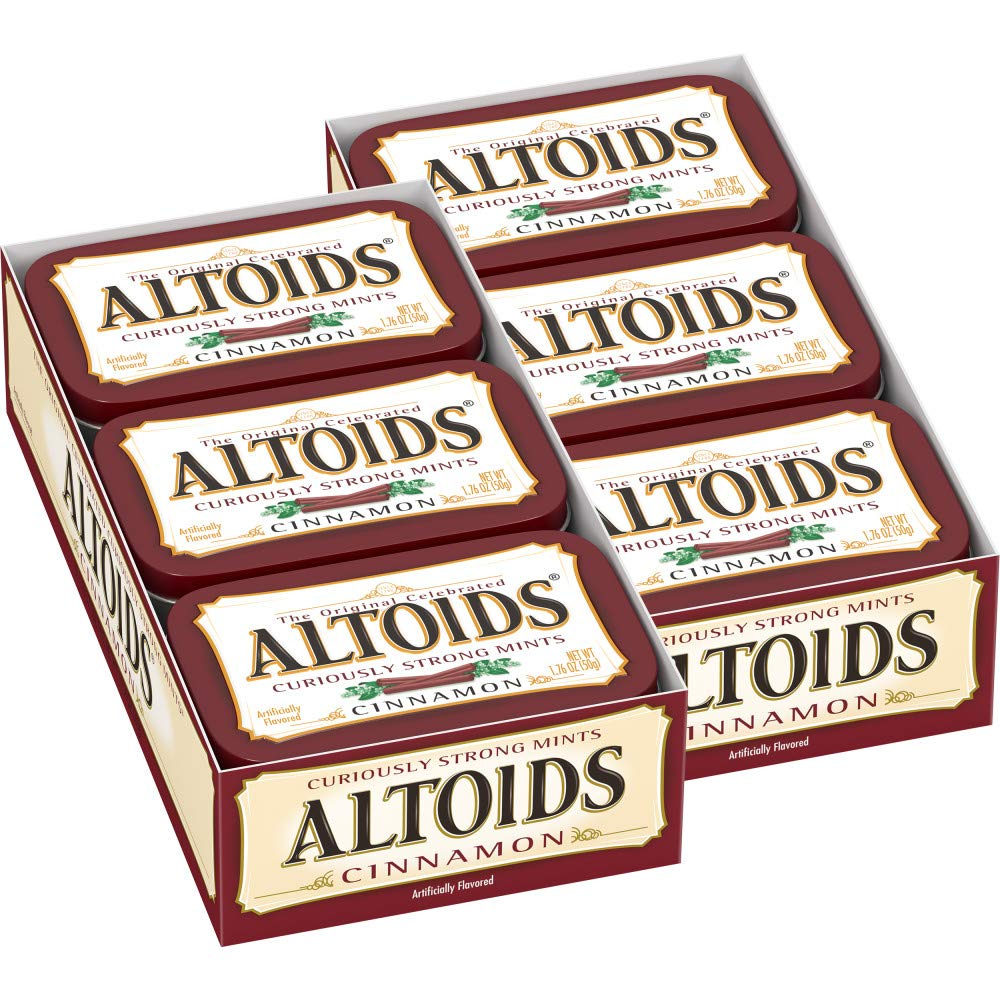 ALTOIDS Classic Cinnamon Breath Mints, 1.76-Ounce Tin (12 Packs) by Altoids