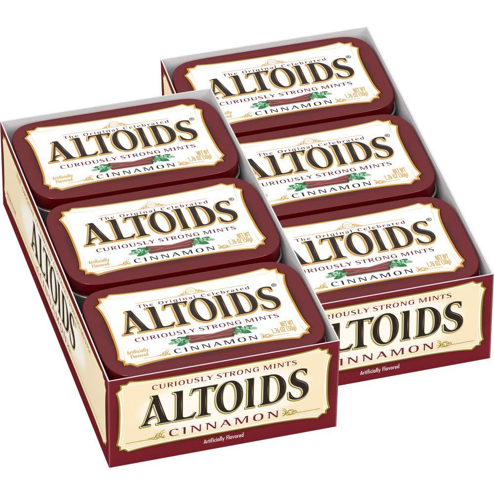 ALTOIDS Cinnamon Mints, 1.76 oz. (Pack of 12)