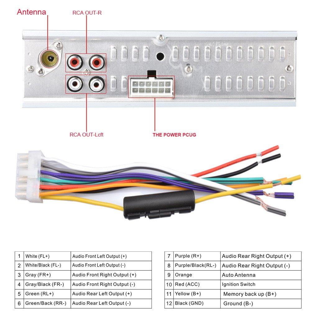 Demiawaking 12V Car Radio MP3 Player,Car Audio Stereo FM Receiver with Remote Control