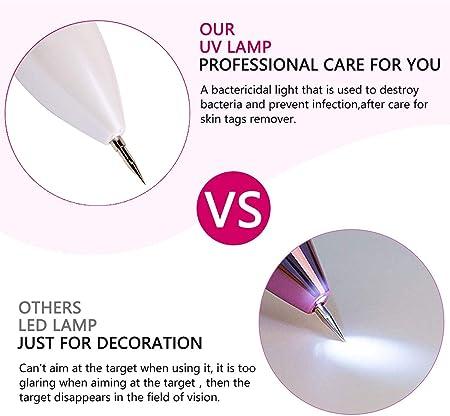 DigHealth Manchas Cara Eliminación, Spot eraser pro, Mole remover pen pluma de pecas, eliminación lunares con Intensidad de 9 Niveles, Mole Manchas Oscuras para Pecas de Tatuaje, LED y luz direcional