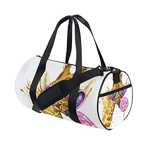 Amazon.com   OuLian Gym Bag Fashion Comic Unicorn Rainbow Emoji Women Yoga  Canvas Duffel Bag Cute Sports Bag for Girls   Sports   Outdoors 1c39620b0f438