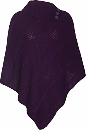 PurpleHanger Womens Plus Size Poncho Shawl Shrug Jumper Top