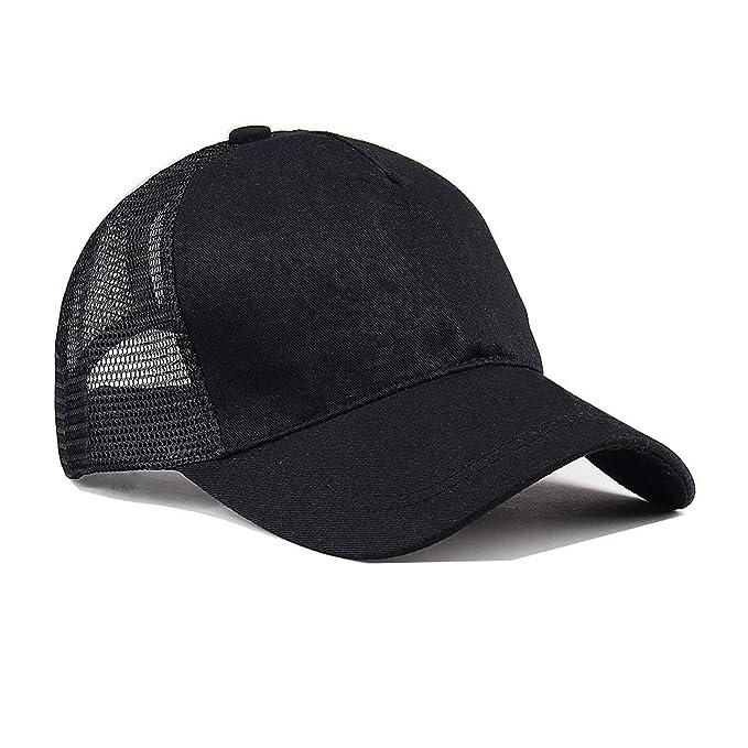 f614fa8ca79 HEWPASKE Glitter Ponytail Baseball Cap Women Hat Summer Messy Bun Mesh Hats  Casual Adjustable Sport Caps