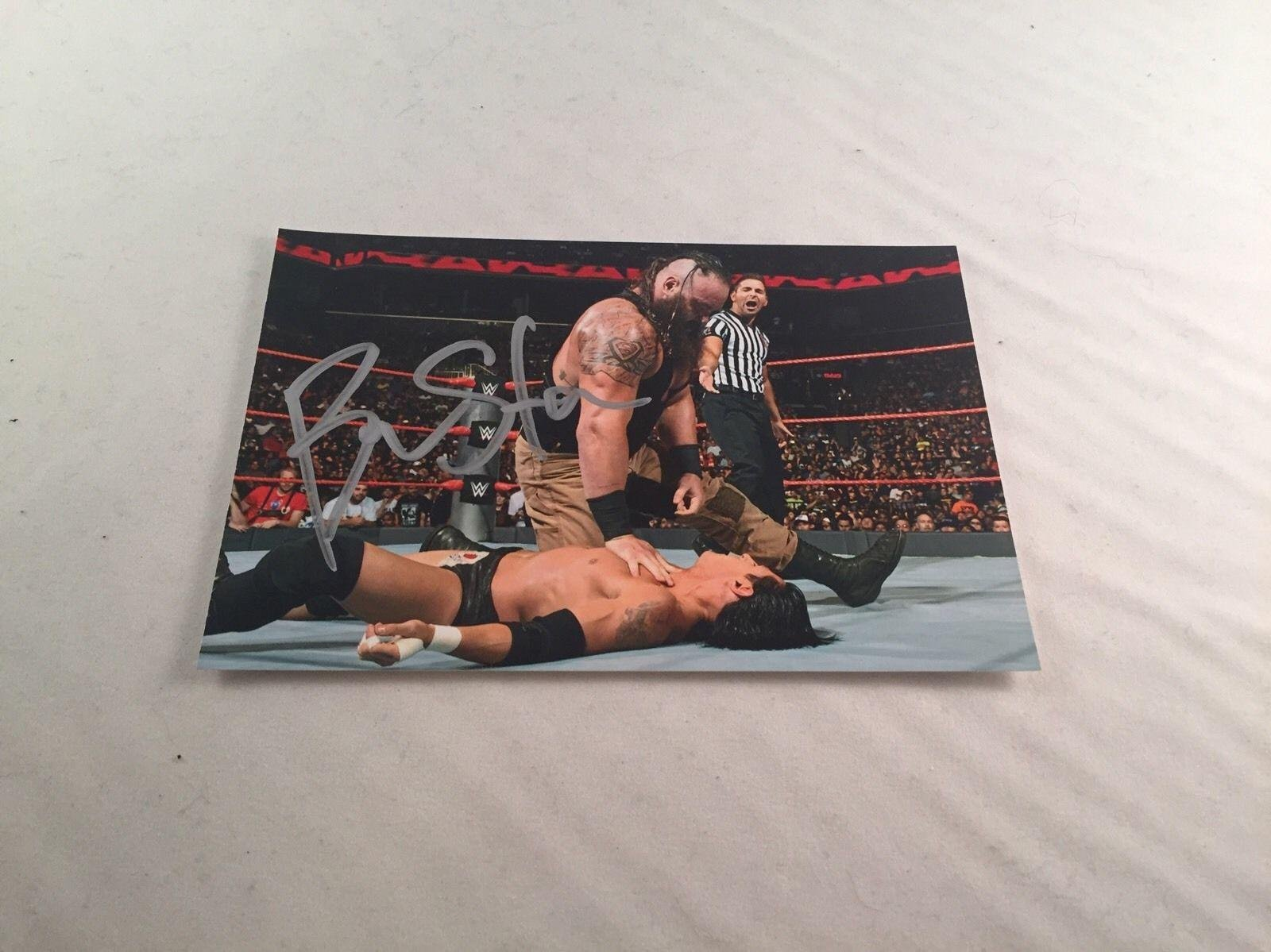 BRAUN STROWMAN SIGNED 4x6 PHOTO WWE MONSTER AMONG MEN Autographed Wrestling Photos