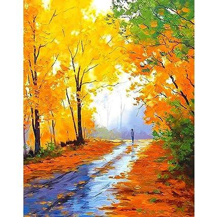 Colour Talk DIY Oil Painting Numbers Kit Romantic Love Autumn