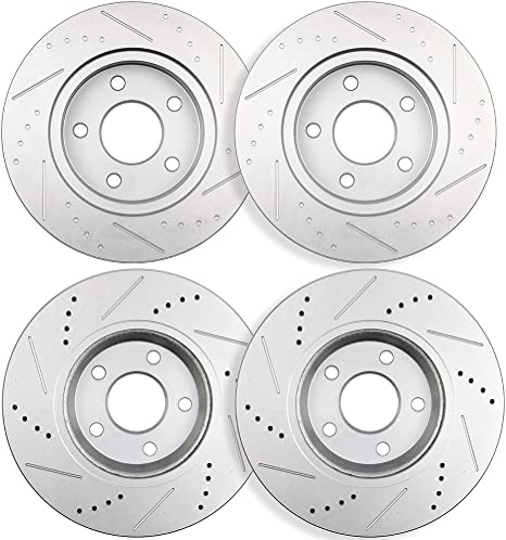 Pontiac G6 05 Drill Slot Brake Disc Rotors FRONT
