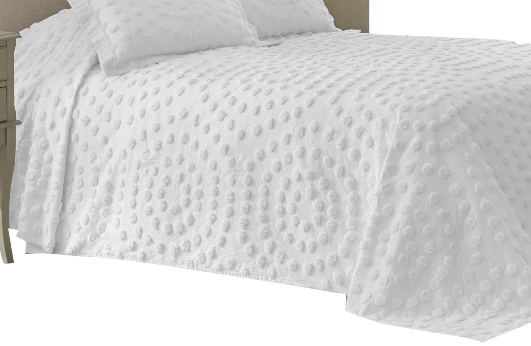 Nostalgia Home 028828374455 Bedspread, Twin, White