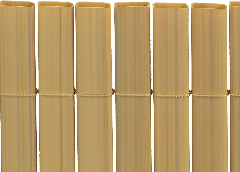 Simile a RAL 1033 bamb/ù jarolift Premium Canniccio PVC per Giardino//Schermo divisore e Protettivo frangivista per Recinzione da Giardino 80 x 300 cm