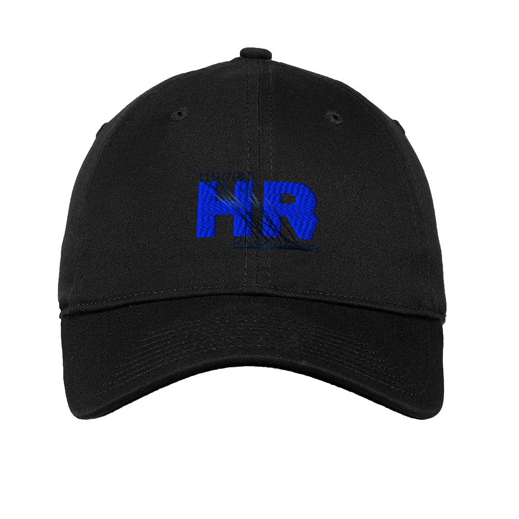 Amazon.com  Speedy Pros Human Resources HR Logo 2 Embroidered Unisex Adult  Flat Solid Buckle Cotton Unstructured Hat Low Profile Cap - Black dd378e806fcb