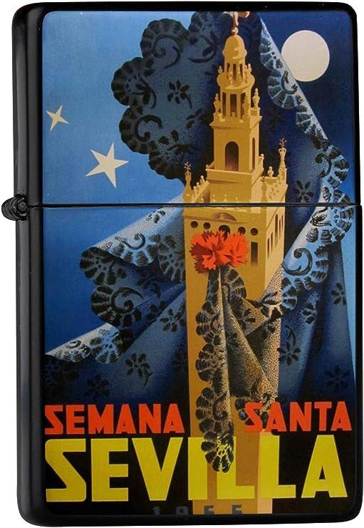 Encendedor De Gasolina Impreso Recargable Sevilla España Semana Santa torre velo noche: Amazon.es: Hogar
