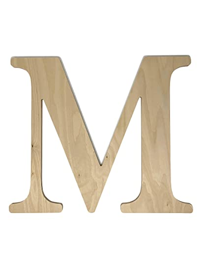 Unfinished Wooden Letter For Wedding Guest Book Alternative Or Wall Decor 24 Letter M